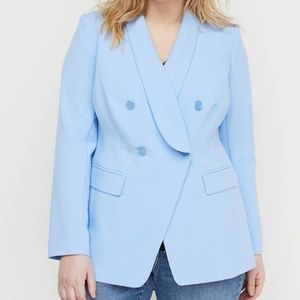Lane Bryant Blue Double-breasted Blazer NWT Size26